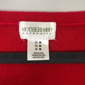 Motherhood Maternity Red Sweater